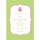 Green Dots Birthday Party Invitation