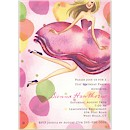 Jumping Party Girl Blonde Party Invitation