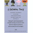 Kids' Costumes on Blue Halloween Party Invitation
