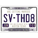 License Plate Suite C Party Invitation