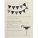 Margarita Glass Cocktail Party Invitation