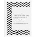 Modern Chevron Party Invitation