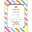 Multi-Color Brown Frame Birthday Party Invitation