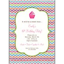 Multi-Color Chevron Birthday Party Invitation