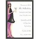Night Out Birthday Party Invitation