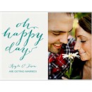 Oh Happy Day Photo Engagement Party Invitation
