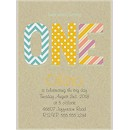 One Pattern Birthday Party Invitation