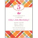 Orange Madras Birthday Party Invitation