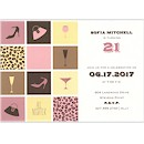 Party Blocks in Rosewood Birthday Party Invitation