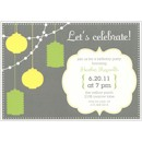 Party Lanterns Birthday Party Invitation