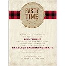 Plaid Party Time Birthday Party Invitation