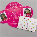 Polka Dot Party in Fuchsia Party Invitation