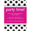 Polka Dot Party Invitation