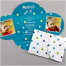 Polka Dot Party in Marine Party Invitation