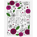 Posies and Petals Party Invitation