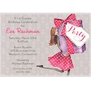 Pretty Party Box Brunette Party Invitation