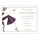 Pretty in Purple Birthday Party Invitation