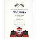 Race Car Bar Mitzvah Party Invitation