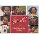 Red Valentine's Hearts Multi-Photo Valentine Card