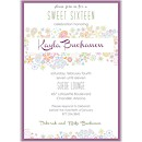 Retro Floral Suite D Party Invitation