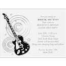 Rockin' Guitar Birthday Party Invitation