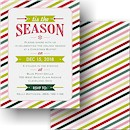 Seasonal Stripes Holiday Party Invitation