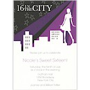 Sixteen in the City Birthday Party Invitation