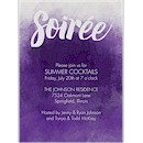 Soiree Style in Violet Party Invitation