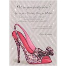 Sparkle Party Pump Birthday Party Invitation