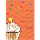 Sprinkles & Confetti in Orange Party Invitation