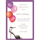 Stylish Party Balloons Birthday Party Invitation