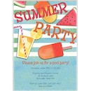 Summer Essentials in Blue Party Invitation