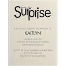 Surprise Party Birthday Party Invitation