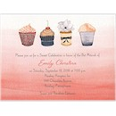 Sweet Cupcakes Party Invitation