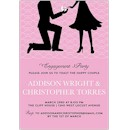 The Proposal in Pink Engagement Party Invitation