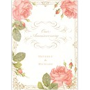 Vintage Cabbage Rose Anniversary Party Invitation