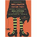 Witch's Dress Halloween Party Invitation