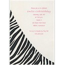Zebra Stripe 16th Birthday Party Invitation