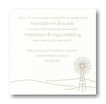 Fresh Country Accommodations Card