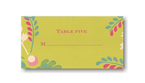 Garden Glamour Place Card