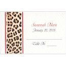 Animal Print Place Card