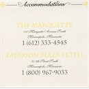 Avenue of Dreams Accommodation Card