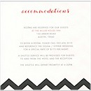 Chevron Stripes Accommodations Cards