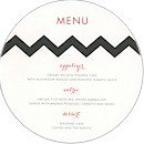 Chevron Stripes Menu Card