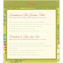 Garden Glamour Direction Card