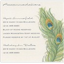Peacock Charm Accommodations Card