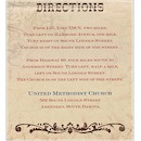 Rustic River Direction Cards