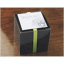 Sprightly Favor Box in Black or Silver