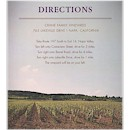 Wine Country Directions Card