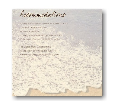 Sandy Toes Accommodations Card
